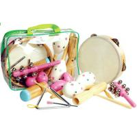 Buy cheap Wooden Kids Musical Instrument , Seven Pieces Pink Hand Percussion Set from wholesalers