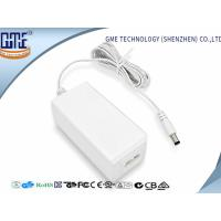China Fork Groove DC Connector 12V 1.5A Desktop Ac Dc Plug Adapter , 85% Efficiency wholesale