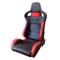 China PVC Adjustable Red And Black Racing Seats / Sports Car Seat with single slider wholesale