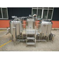 Buy cheap steam heating PLC control SS304 material 7 BBL Beer brewing equipment from wholesalers