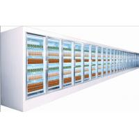 China Electric 5 Tiered Commercial Beverage Cooler Glass Door Curved Plastic Coated Steel wholesale
