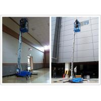 China Electric Aerial Order Picker 10 Meter Platform , Aluminum Alloy Hydraulic Aerial Lift wholesale