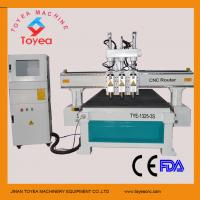 Buy cheap Wood furniture cnc router machine with 3 pneumatic spindle tool changer 4x8 working table TYE-1325-3S product