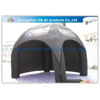 China Advertising Inflatable Air Tent , Black Blow Up Spider Dome Tent wholesale