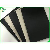China Foldable 1.2mm 1.5mm Single Black Covered Cardboard Paper Grey Back For Gift Box wholesale