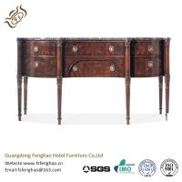 China Contemporary Black Wood Console Table With Drawers / MarbleTable Board Dark Oak Console Table wholesale