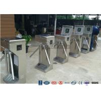 Quality Stainless Steel Bi - Directional Turnstile Security Gates With Fingerprint Ticketing System for sale
