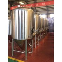 Buy cheap Beer fermentation tank jacketed conical fermenter beer brewing equipment for pub from wholesalers