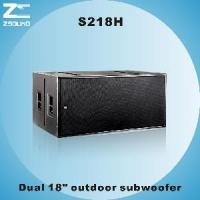 """China S218H Dual 18"""" Vented Powerful Subwoofer wholesale"""