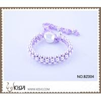 China Hot Selling Handmade Bracelet in Lilac Colour BZ004 wholesale