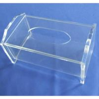 Quality Clear Rectangular Acrylic Tissue Paper Box With Sliding Lid for sale