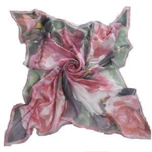 China Doigital Printing Silk Square Scarf (HP-C01) wholesale