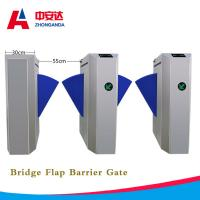 China Automatic Bridge Flap Wing Barrier Turnstile 1.5mm 304 Stainless Steel Control Turnstile Gate for Subway on sale