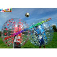 China Colorful TPU Inflatable Bumper Ball , Zorb Bubble Soccer Ball For Humans on sale