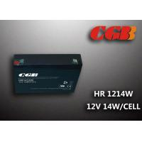China HR1214W  12V 3AH Alarm System Batteries , AGM Valve Regulated Deep Cycle Rechargeable Battery wholesale
