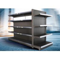 China Brown and white color supermarket display equipment adjustable and fashionable gondola with OEM design wholesale