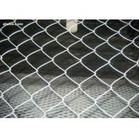 China 50 x 50mm 100 x 100mm PVC Coated Chain Link Fence Galvanized 1.8 - 5.0mm wholesale