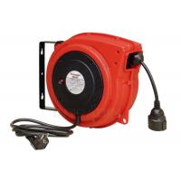 Quality Impact Resistant Polypropylene Electric Cable Reel With Over Load Breaker Red for sale