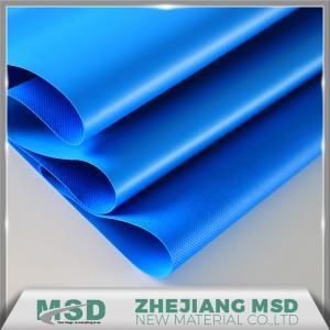 China Hot sale 1000D Blue Heavy Duty Waterproof Coated PVC Tarpaulin Fabric Tent Material wholesale