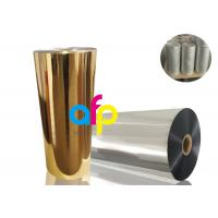 China Gold Metalized Plastic Film , Moisture Proof Opaque Metallized Polyester Film wholesale