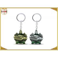 China Die Casting 3D Brass Vintage Metal Key Ring Pear Finishing For Promotion With Laser Logo wholesale