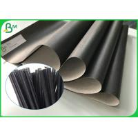 China Custom Recyclable Food Grade Kraft Paper 60gsm Printable Black Straw Paper Roll wholesale
