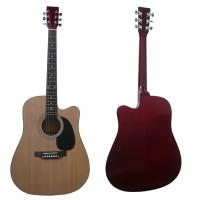 "China 41"" Wood Acoustic Guitar Spruce Cutaway Wood With Maple Neck wholesale"