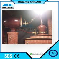 China Vodka Distillery Equipment For Sale & Red Copper Small Size Whiskey Distilling Equipment wholesale