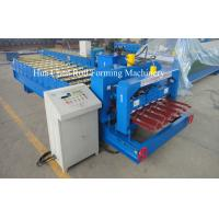 China 1250mm Glazed Tile Roof Panel Roll Forming Machine / Cold Roll Forming Equipment wholesale