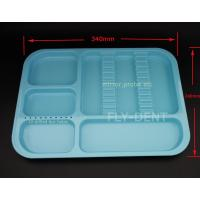 Quality Autoclavable Dental Divided Tray Blue for sale