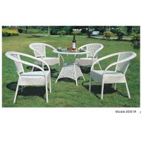 China White wicker rattan PE garden dining set-8081 wholesale