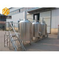 China Steam Heated Beer Distillery Equipment 1000L Brewhouse Rock Wool / PU Foam Insulation wholesale