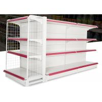 China Iron Steel 4 Layers Supermarket Display Racks With Double Sided / Single Sided wholesale
