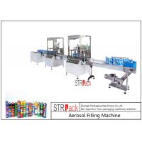 China High Capacity automatic Aerosol Filling Machine For PU Foam / Pesticide wholesale