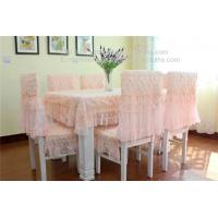 China Rosette openwork lace tablecloths and chair covers for wedding banquet, on sale