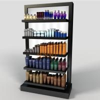 China Black 5 Tier Display Stand POS Perspex Shelving Display Retail Bath Product Glossy wholesale