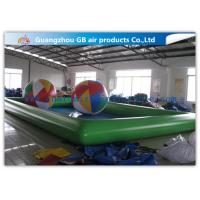 China Green Inflatable Swimming Pool Toys , Inflatable Kiddie Pools With Colorful Balls wholesale