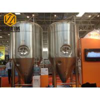 China Tapered Beer Fermentation Tanks 5000L Stainless Steel Shell Glycol Water Cooling wholesale