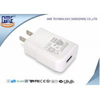 China Intertek Pure White US Plug Wall USB Charger 5V 2A with One Port , Small Size wholesale