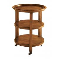 China Round Three Tiered Countertop Modern Wood Coffee Table / Sofa End Tables wholesale