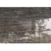 Quality Versace Grey Gray Gloss Marble Floor Tiles Environmentally Friendly for sale