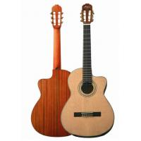 China 39 Inch ABS Inlay Rosette Spruce Metal String Acoustic Guitar CG3921C-BR wholesale