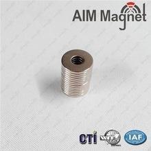 China Super Customized Strong neodymium diametrically magnetized ring magnet wholesale