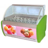China Electric Ice Cream Display Counters Freezer 16 Tanks 1605 * 1120 * 1386MM wholesale