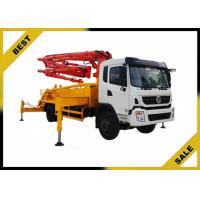 China Isuzu Chassis 37 Meter Small Concrete Boom Pump Truck  Highly Wear - Resistant wholesale