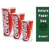 China Double Side Disposable Iced Coffee Cups , 16 OZ Large Cold Drink Paper Cups on sale