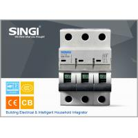China SINGI 65A 3VTB 3P 400V  CE certificate slippery container holder mini circuit breaker(MCB) manufacturer wholesale