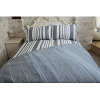 Buy cheap vertical stripe  grey&white polycotton or full cotton duvet cover sets product