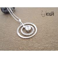 China NEW fashion 925 sterling silver gemstone pendant with zircon 3.44 cm * 2.51 cm W-VB949 wholesale