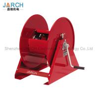 China 250 ft Medium Duty Air Hose Reel Crank For Turf Caring / Pest Controlling Reel Grease wholesale